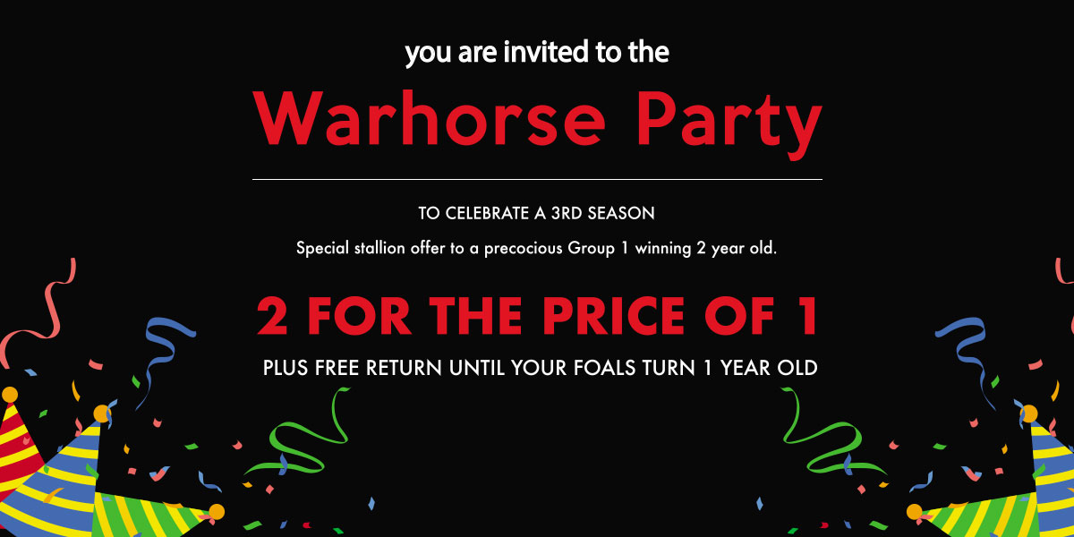 Warhorse Party Banner